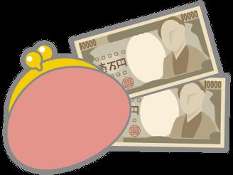 財布とお札の画像です。