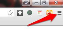 chromeの右端の三本線をクリックします。