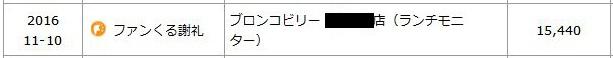 ファンくる謝礼15,440
