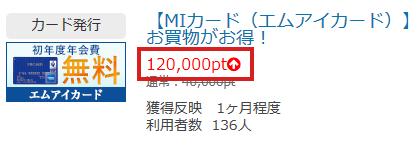 120,000ptもらえます。