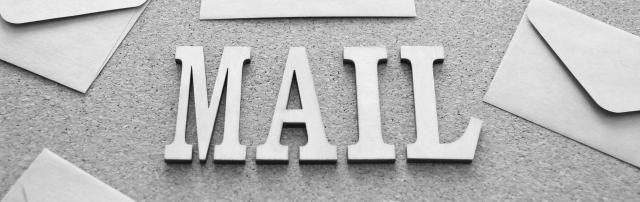 MAILという文字が映っています。