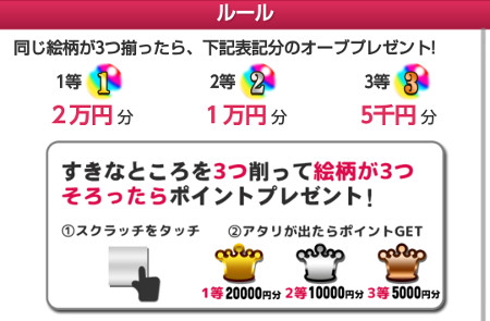 1等が出たら2万円分ゲット。