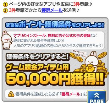 広告利用を3件行わないと50000円は獲得できない。