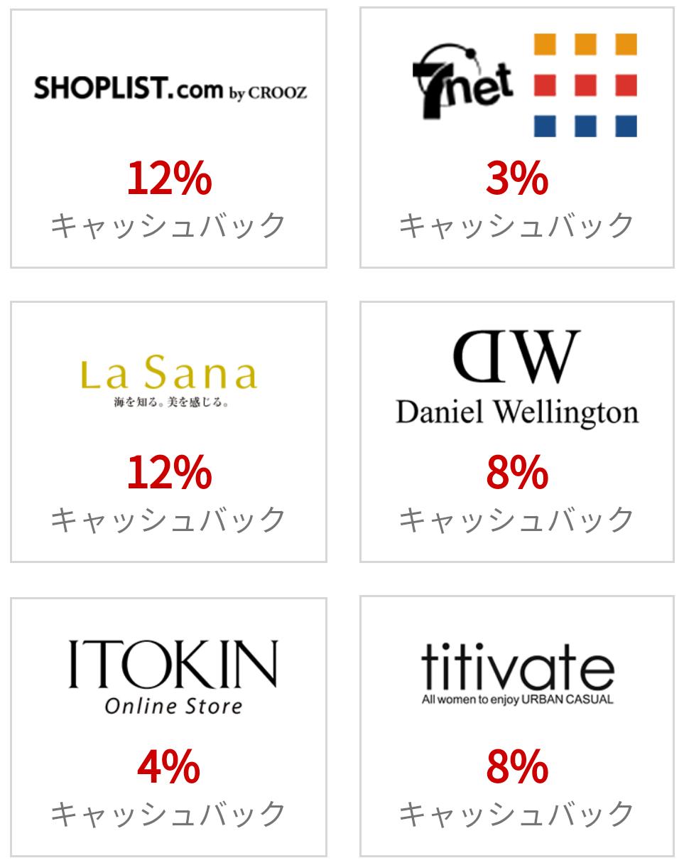 monokaで人気のショップ一覧。セブンネットショッピングが3%還元。